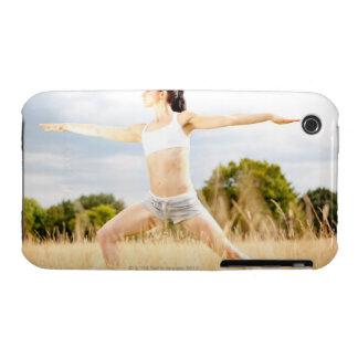 Female Does Yoga Stretch Case-Mate iPhone 3 Case