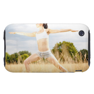 Female Does Yoga Stretch iPhone 3 Tough Case