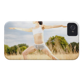 Female Does Yoga Stretch iPhone 4 Cover