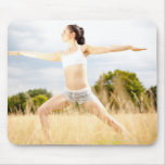 Female Does Yoga Stretch Mouse Pad