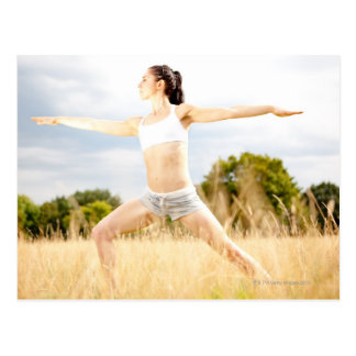 Female Does Yoga Stretch Postcard