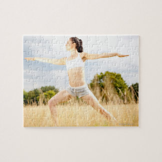 Female Does Yoga Stretch Jigsaw Puzzle