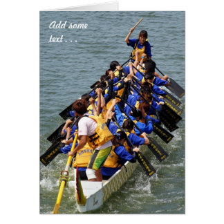 Female Dragon Boat Race Competition Greeting Cards