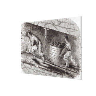 Female Drawer in a Coal-Pit at Little Bolton Canvas Print