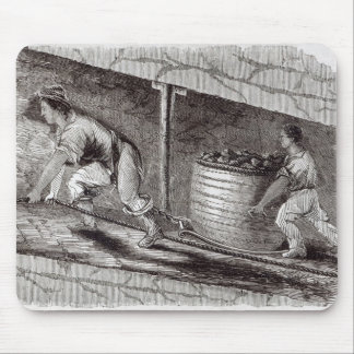 Female Drawer in a Coal-Pit at Little Bolton Mouse Pad