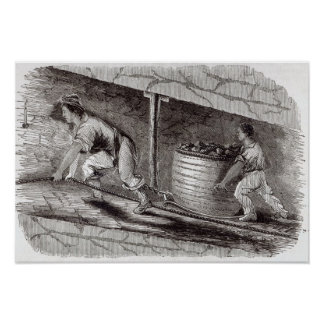 Female Drawer in a Coal-Pit at Little Bolton Poster