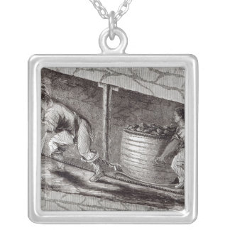 Female Drawer in a Coal-Pit at Little Bolton Silver Plated Necklace