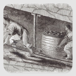 Female Drawer in a Coal-Pit at Little Bolton Square Sticker