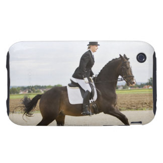 female dressage rider exercising 2 iPhone 3 tough covers