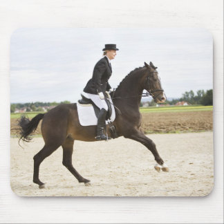 female dressage rider exercising 2 mouse pad