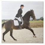 female dressage rider exercising 2 tiles