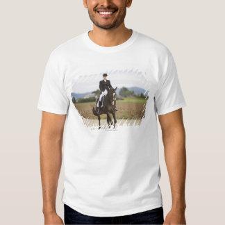 female dressage rider exercising t shirt