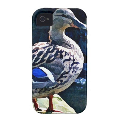 Female Duck Keeping an Eye on You Case-Mate iPhone 4 Cases