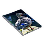 Female Duck Keeping an Eye on You Spiral Note Books