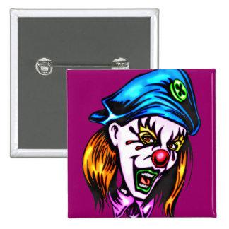 Female Evil Clown 2 Inch Square Button