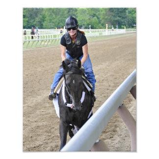 Female Exercise Rider Photo Print