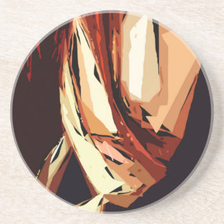 Female Expressions XIII Sandstone Coaster