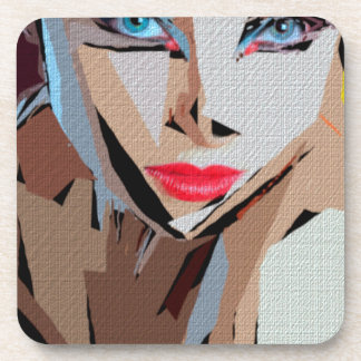 Female Expressions XVIII Drink Coaster