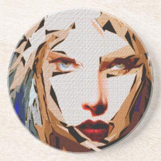 Female Expressions XXXVIII Drink Coaster
