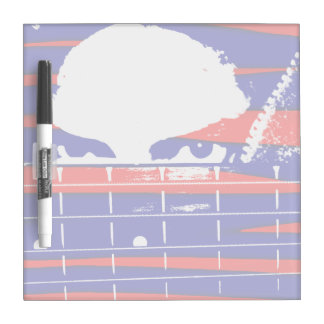 Female eyes over bass fretboard posterized dry erase boards