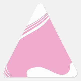 Female Face Profile View Triangle Sticker