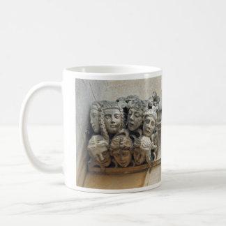 Female faces gargoyle mug