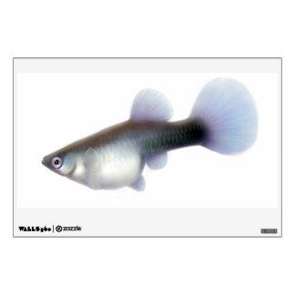 Female Fancy Guppy Fish Wall Decal