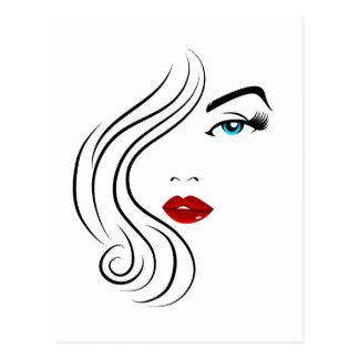Female Fashion Face Postcard