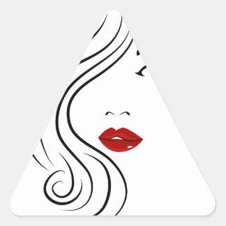 Female Fashion Face Triangle Sticker