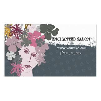 Female Feminine  Blooming Spring Flower Goddess Business Card Template