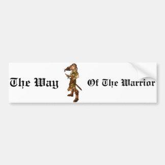 Female Fighter Bumper Sticker