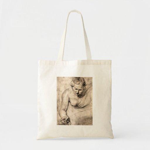 Female figure by Paul Rubens Budget Tote Bag