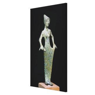 Female figure, possibly Aphrodite Canvas Print