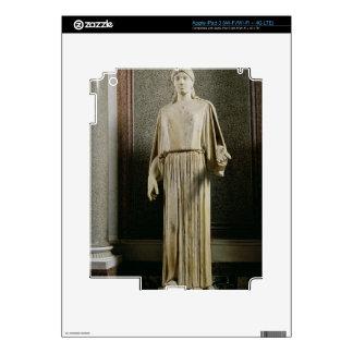 Female figure wearing a peplos, Greek (marble) Decal For iPad 3