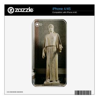 Female figure wearing a peplos, Greek (marble) iPhone 4S Decals