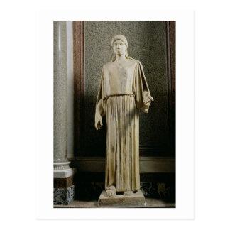 Female figure wearing a peplos, Greek (marble) Postcards