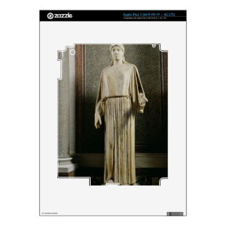 Female figure wearing a peplos, Greek (marble) Decals For iPad 3