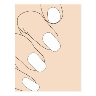 Female fingers with French manicure Postcard