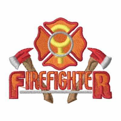Female Firefighter Embroidered Hooded Sweatshirt