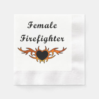 Female Firefighter Paper Napkin