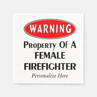 Female Firefighter Property Paper Napkin