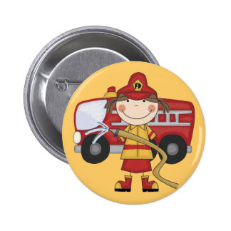 Female Firefighter T-shirts and Gifts Pin