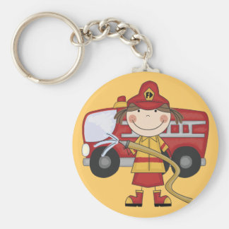 Female Firefighter T-shirts and Gifts Keychain