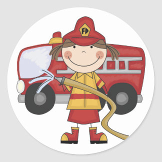Female Firefighter T-shirts and Gifts Stickers