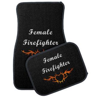 Female Firefighter Tattoo Car Mat