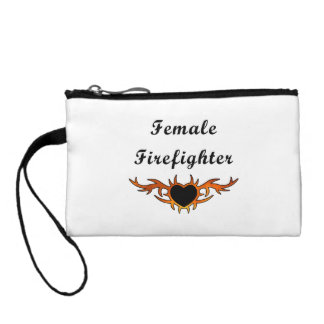 Female Firefighter Tattoo Change Purse
