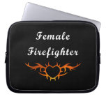 Female Firefighter Tattoo Computer Sleeves