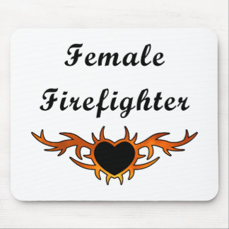 Female Firefighter Tattoo Mouse Pad