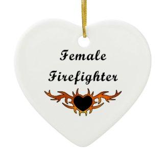 Female Firefighter Tattoo ornament