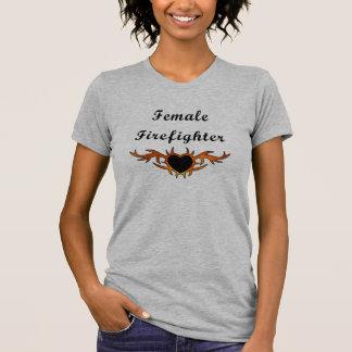 Female Firefighter Tattoo T-Shirt